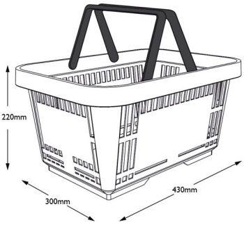 Basket 22L Dimensions
