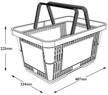 Basket 28L Dimensions