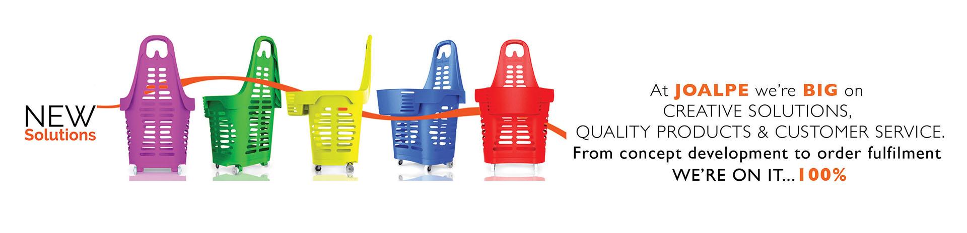Joalpe Banner Plastic Shopping Trolleys
